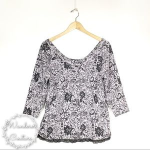 Anthro Meadow Rue Greyfield Jacquard Pullover